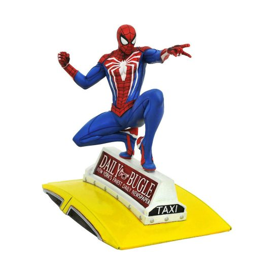 Spider-Man-on-Taxi-Statue
