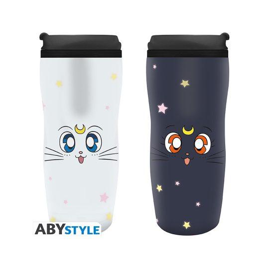 Sailor Moon - Luna and Artemis Travel Mug